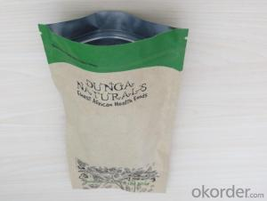 Laminated Kraft Paper Bag with Degassing Valve for Coffee Packing