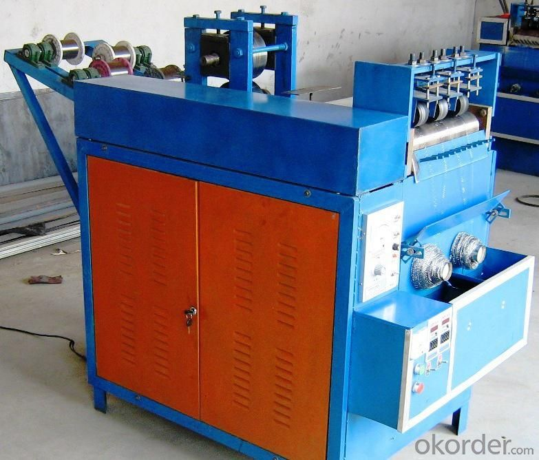 Stainless Steel or Galvanized Scourer Making Machine
