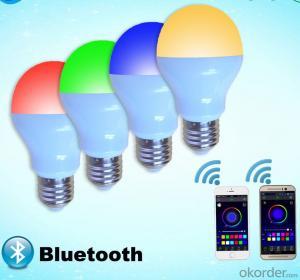 LED Bulb LED remote bulb LED Bluetooth Bulb RGBW Bluetooth Bulb 9W