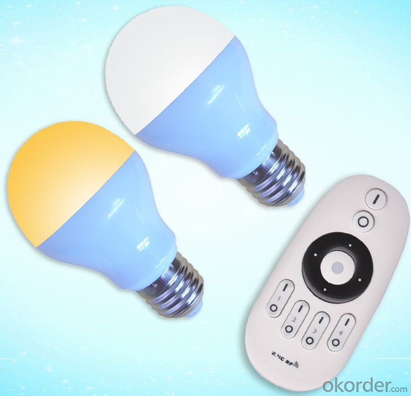 LED Bulb Led Remote Bulb 2.4G Grouping LED Color Temperature Bulb  (6W Plastic Cover the Aluminum)