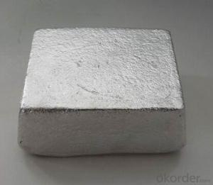 Magnesium Ingot 99.99% 99.95% High Purity