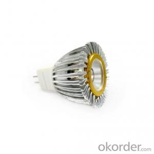COB LED GU10 MR16 Spotlight Cold Forging Aluminum