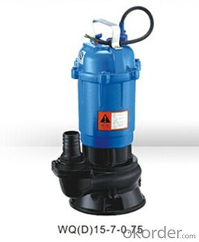 WQ Series Sewage Vertical Centrifugal Water Pump