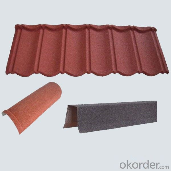 Stone Coated Color Steel Metal Roofing Tiles