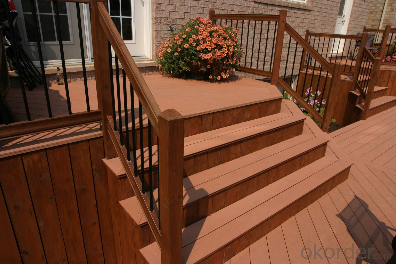 Buy composit outdoor decking plastic decking for Polymer decking