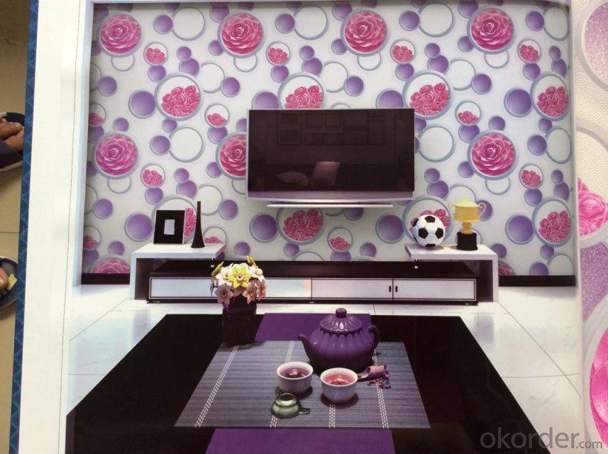 PVC Wallpaper Modern House Design 3d Wallpaper for Home Decorating