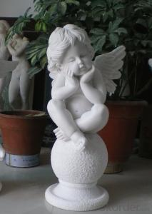 Angel Sculpture by Natural Stone, Garden Decorations