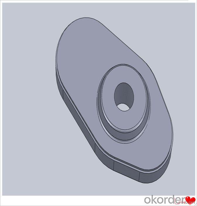 Sliding Gate Caster Wheel Bearings Refractory Slide Gate Plate for Steel Casting Erosion Resistance