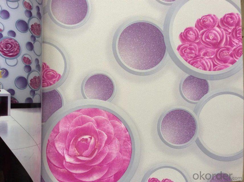 PVC Wallpaper 3D wallcovering Modern Simple Design Wallpaper Collection