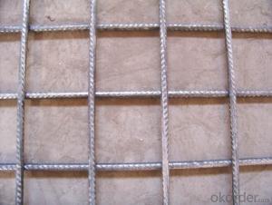Reinforcing bar mesh for construction reinforcement