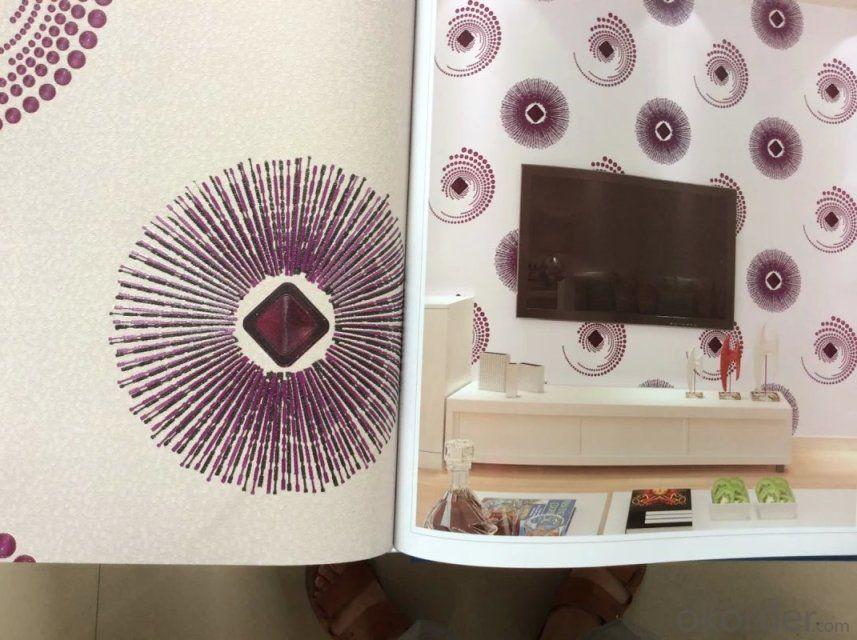 PVC Wallpaper Modern Style Home Waterproof Korea Vinyl Wallpaper Designs