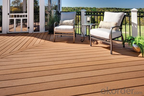 Composite Plastic Outdoor Decking /Plastic Decking/Environmantally Panel