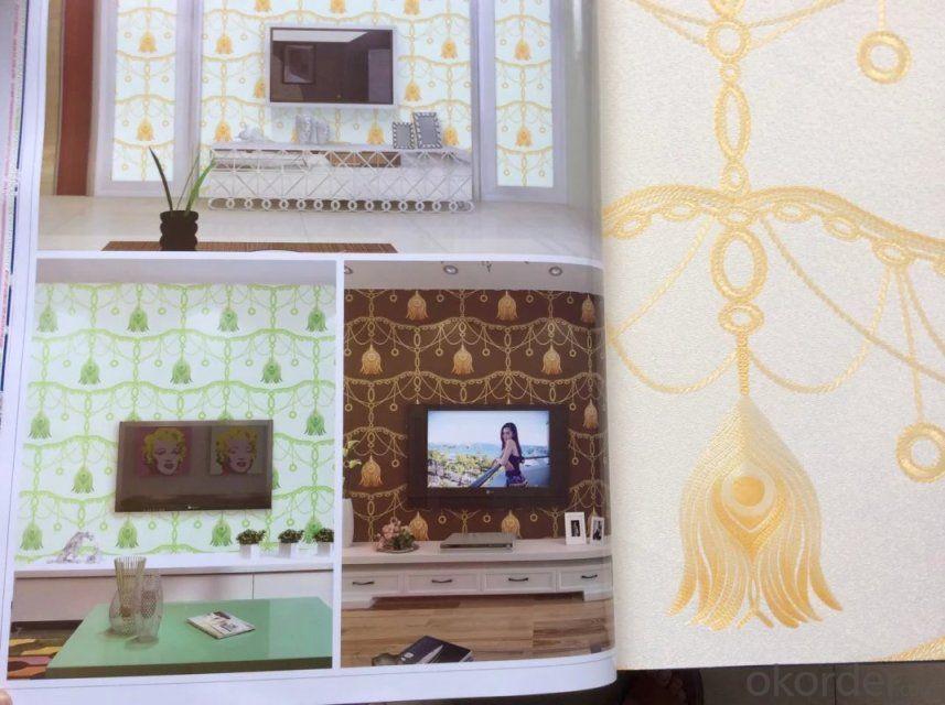 PVC Wallpaper Yoke Modern Line Design Wallpaper from China Wholesale
