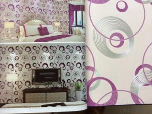 PVC Wallpaper Modern Design Waterproof Specious Charming Lightfast Vinyl Wallpaper