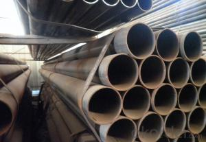 Welded Black ERW Steel Pipe Q235B Scaffolding Pipe