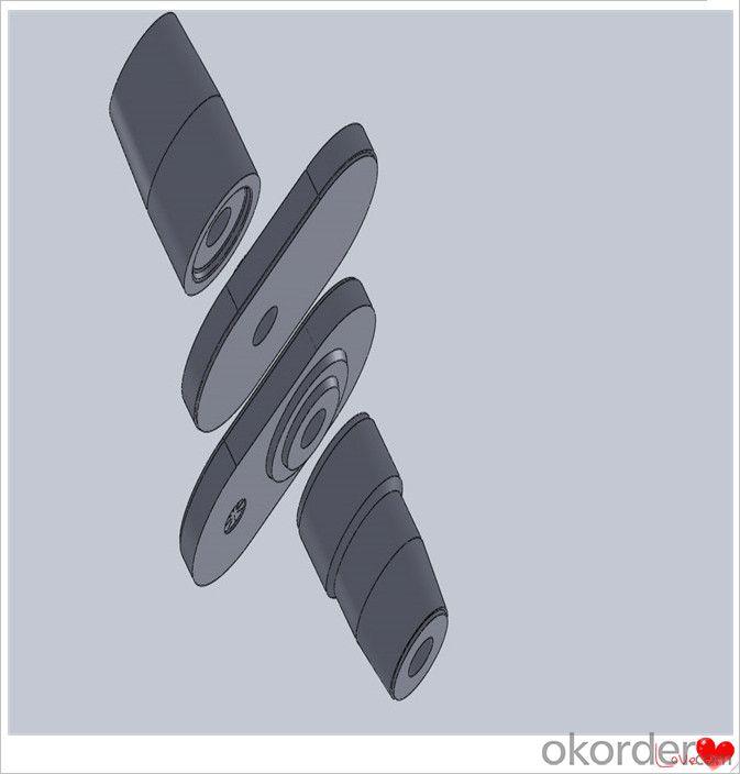 St52 Steel Plate Refractory Slide Gate Plate for Steel Casting Erosion Resistance