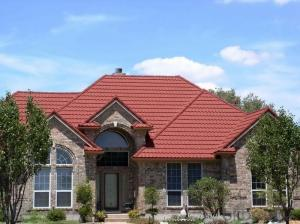 Colorful Sand Steel Stone Coated Roofing Tiles