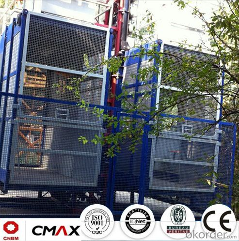 Building Hoist European Standard Electric Parts with Max 6ton Capacity