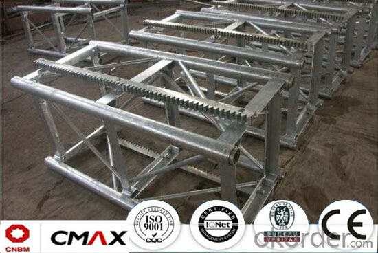 Building Hoist Hot Galvanizing Mast Section with Max 6.4ton Capacity.