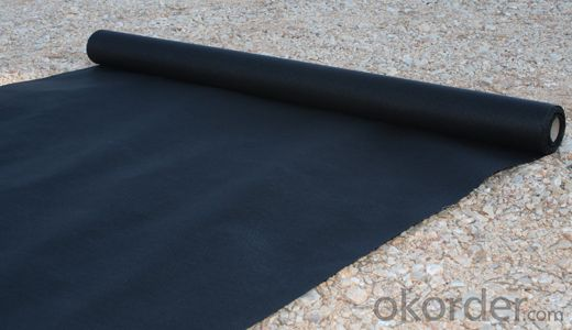 Geotextile of PP 250g/m2 for Construccion Black Long Fiber