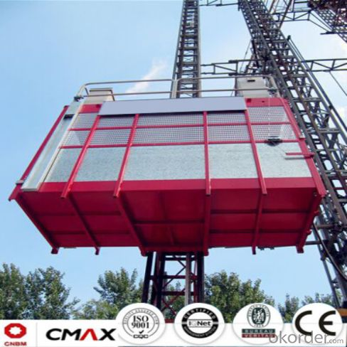 Building Hoist European Standard Electric Parts with Max 4ton Capacity