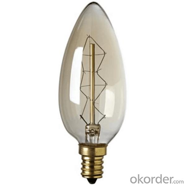 C35 Antique Candle Lamp Edison Bulb B22 with CE ETL