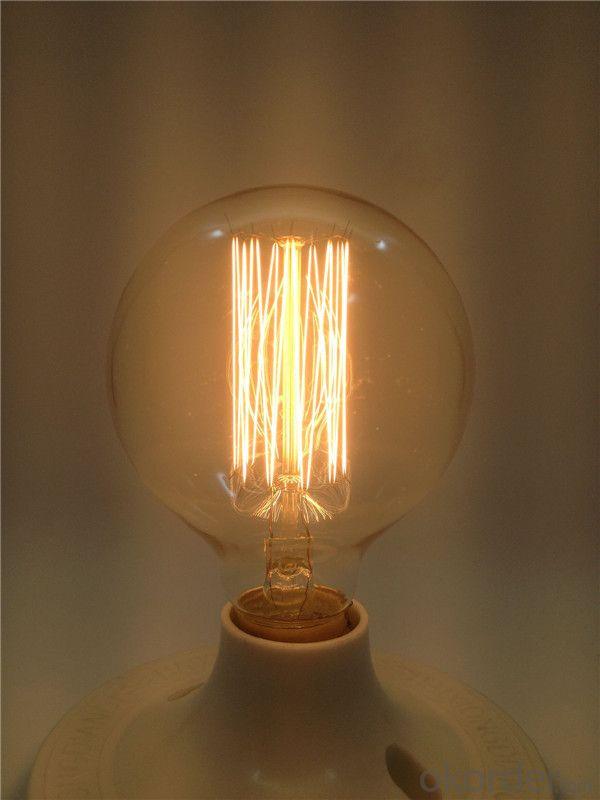 Edison Filament Ball Bulb G80, Edison Bulb G80