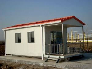 Sandwich Panel House Made in China One Story Flat