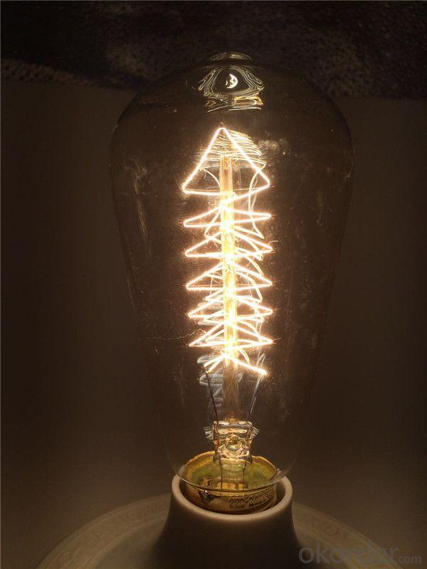 Classic Edison Light Bulbs 25W 40w 60w ST64