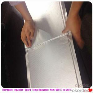 Alumina Foil Heat Insulation Silicate Board for Steel Furnaces Extremely Low Thermal Conductivity