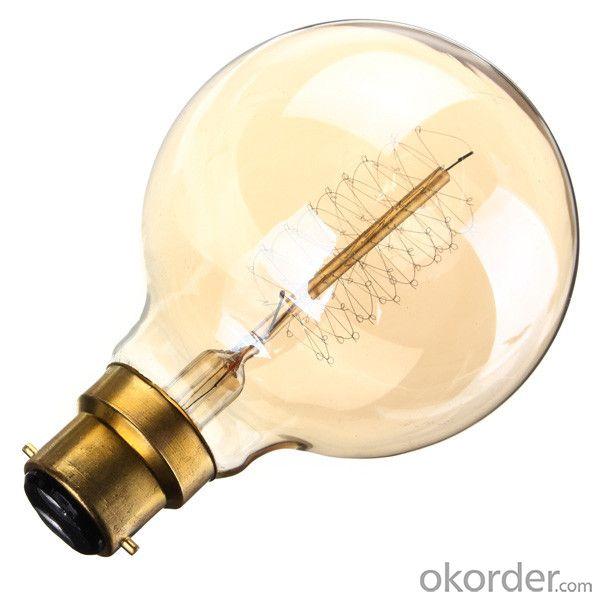 E27 Incandescent Spiral Bulb G80 G95 G125 Edison Filament Bulb 25W 40W 60W