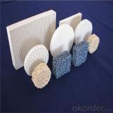 Filtro de espuma cerámica porosa (Material: Alúmina, siliciuro de carbono, óxido de circonio, magnesia)