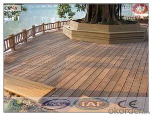 Extruded Plastic Composite Decking with SGS CMAX