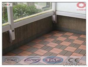 Waterproof Wood Grain Deck WPC Floor Board SGS