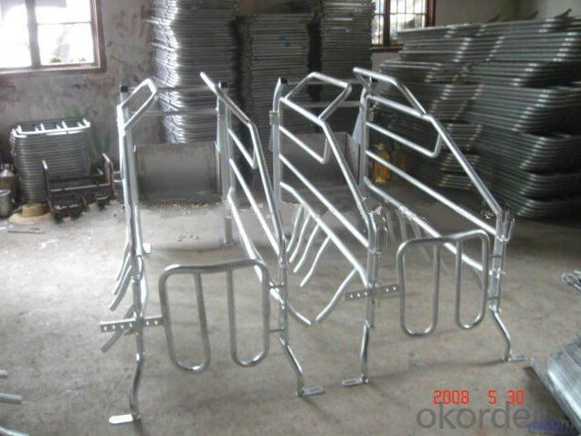 Hot Galvanized Gestation Stall for Cows and Cattle