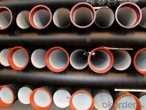 Ductile Iron Pipe Sewage Water Model:T type/K type/Flange type Length: 6M/NEGOTIATED