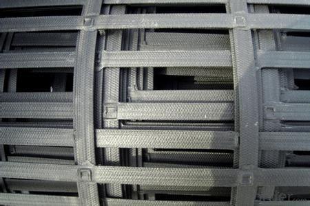 HDPE Steel Plastic Compound Compolex Building Pavement Geogrid Plastic Steel Compositon Geogrid