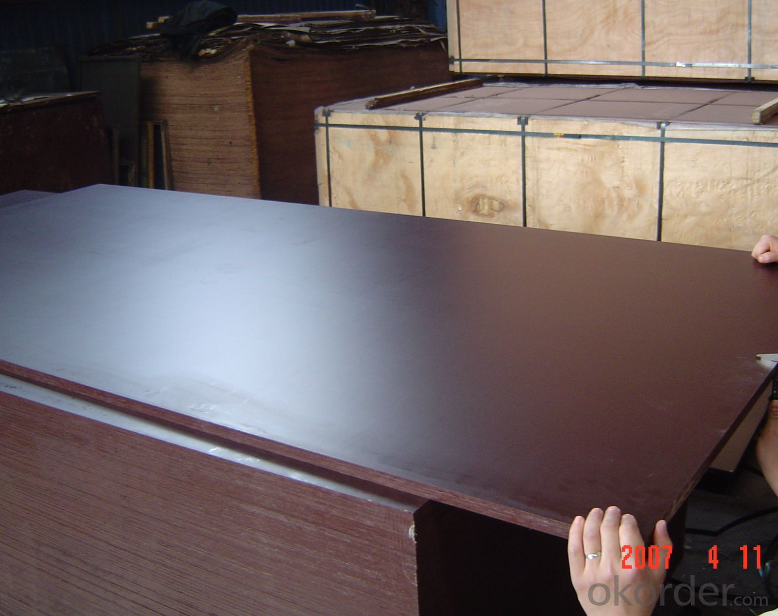 Black Film Faced Plywood for Concrete Formwork MR Glue