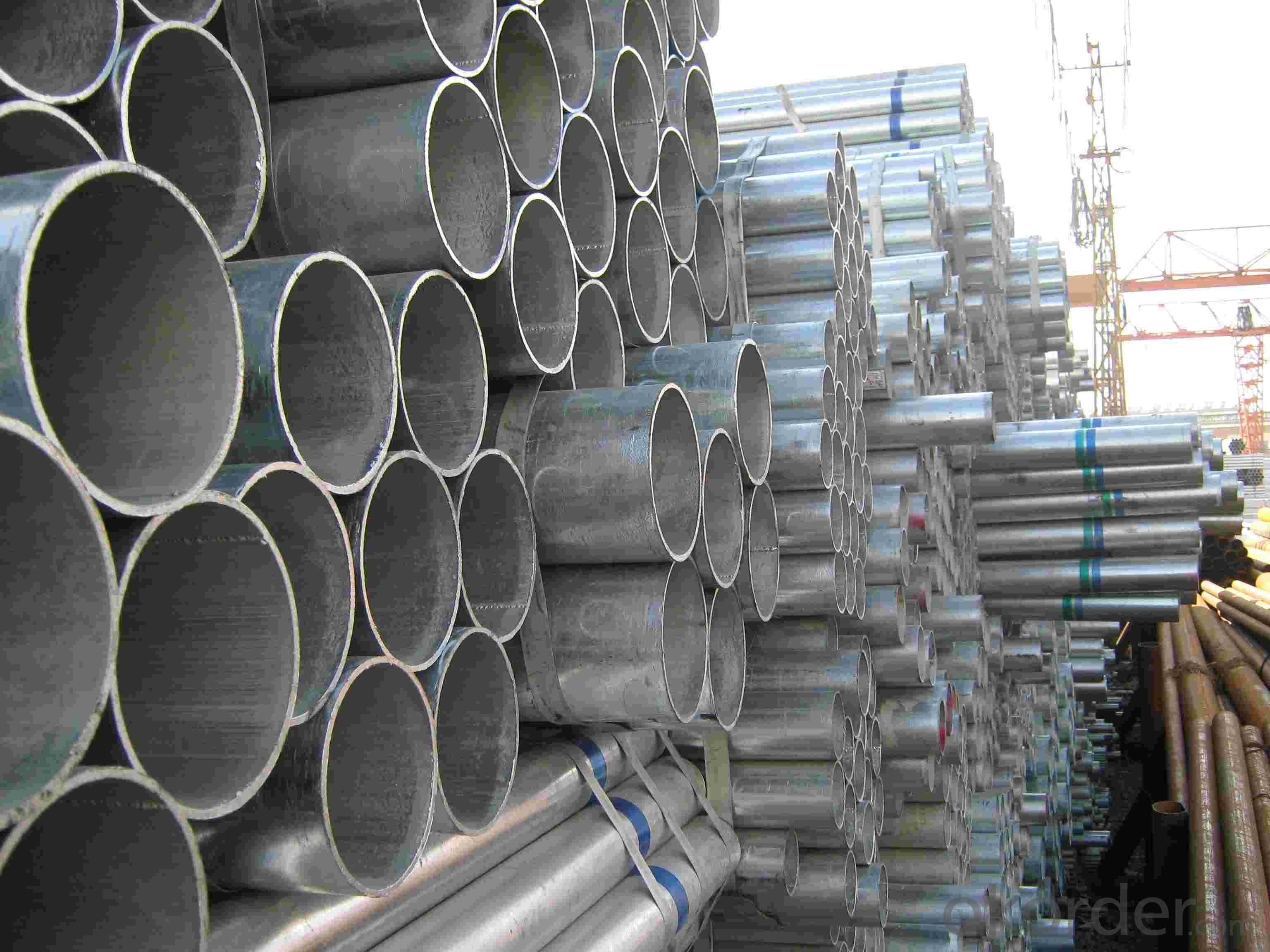 Pre-galvanized Pipe BS1387 Q235 A500 150g Hot Dipped or Galvanized Pipe
