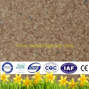 Non-directional homogenous vinyl flooring
