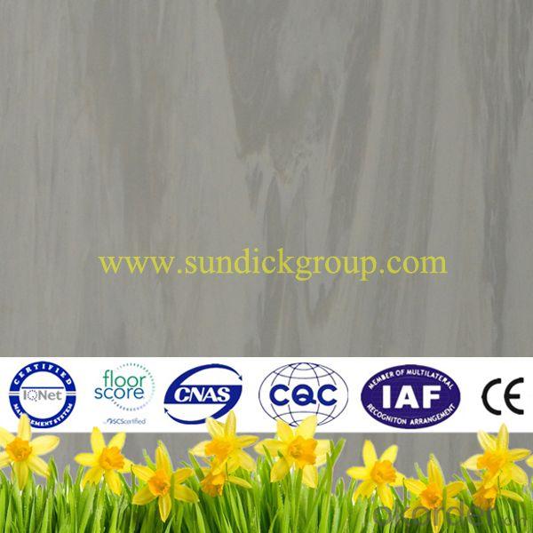 Homogenous vinyl pvc flooring sheet or tile