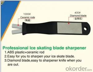 Skate Sharpener with Diamond Stone and Ceramic Rods