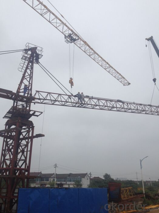 Overseas Engineers Available QTZ63 5010 Widely Used Tower Crane 5ton