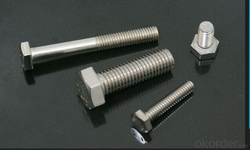 M24 M20 Full thread Hexagon Bolt DIN933 Hex Head Standard China