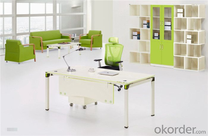 Steel MFC Office Furniture Desk with Customized Size