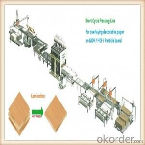 Furniture Board Hot Press Machine Production Line