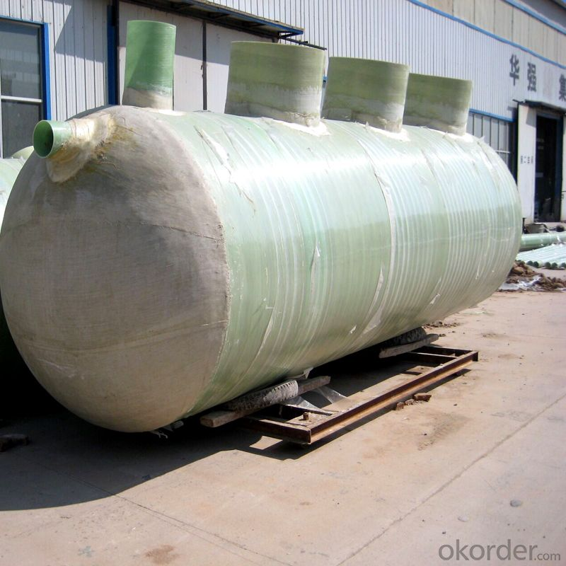 Horizontal FRP Tank Composed of Chemical Barrier