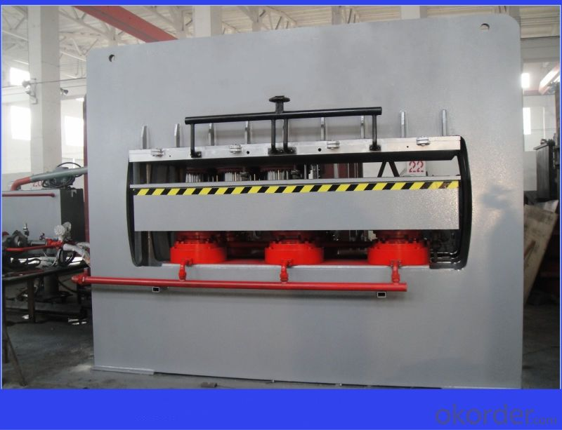 1200T 4X8 Short Cycle Melamine Laminating Hot Press Line