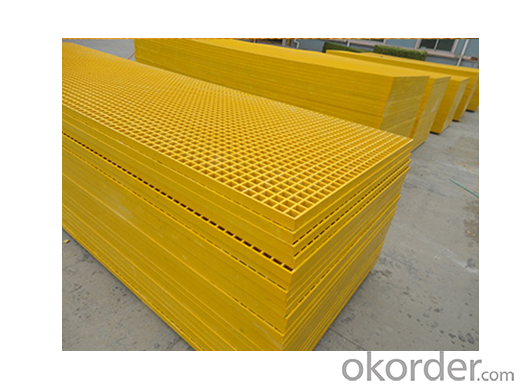FRP Molded Grating, Fiberglass Grating, Plastic Grating Floor with Modern Color and Type