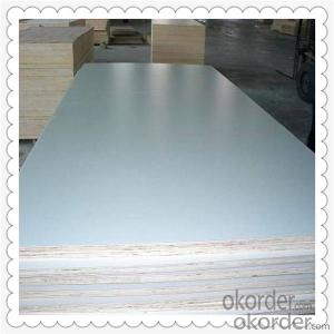 White Color 4'*8' feet Poplar and Hardwood Core Film Faced Plywood
